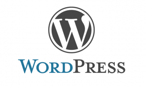Wordpress logo for installation of blue sky chat